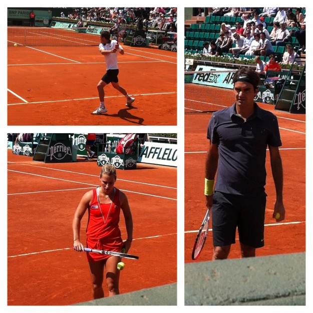 French Open Tag 2 - Tommy Haas und Roger Federer 1