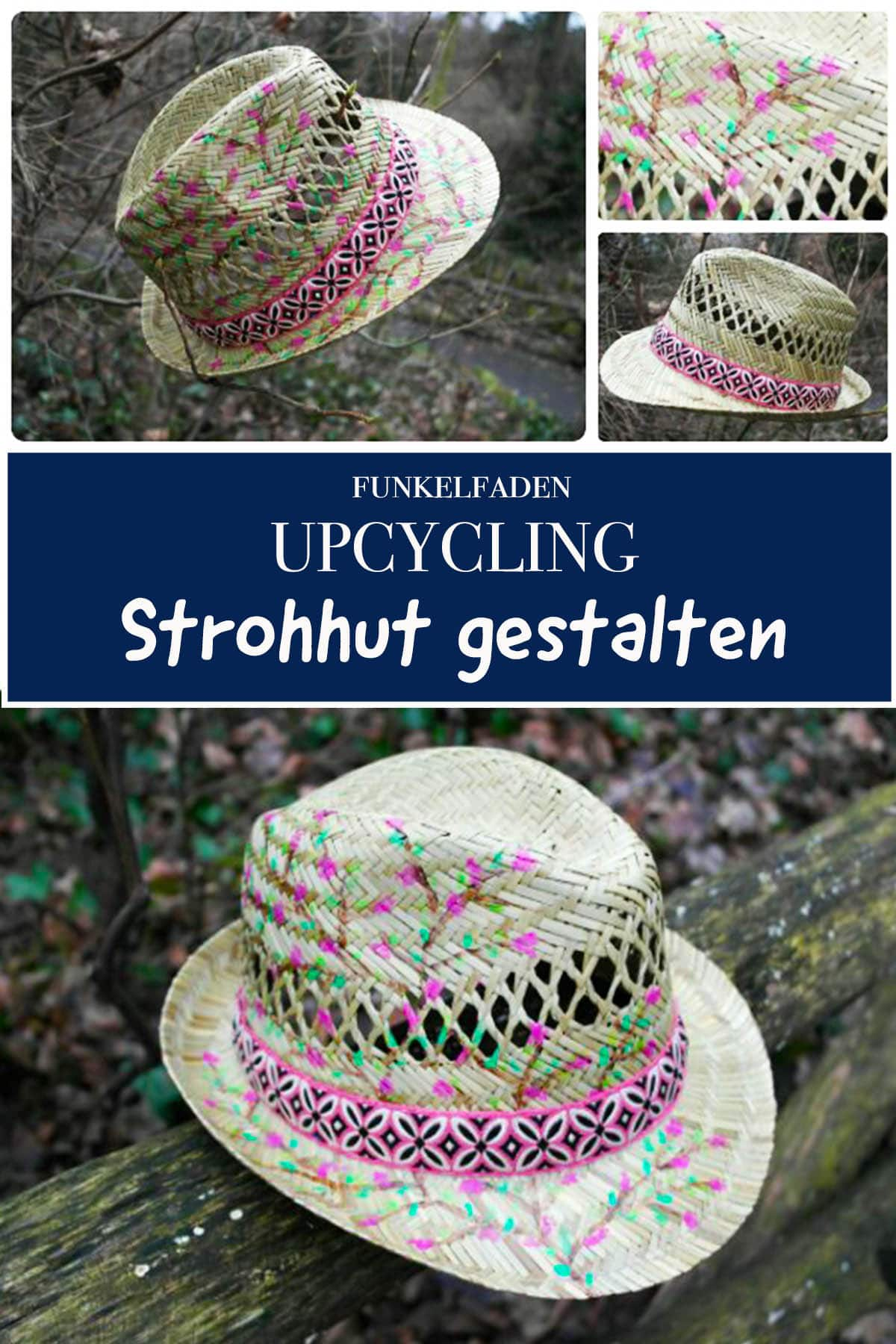 Strohhut upcycling