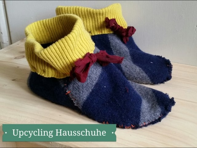 Upcycling Hausschuhe / Re Use Day Berlin 2014