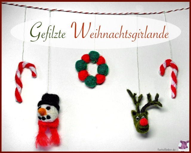 diy weihnachtliche filzgirlande anleitungen do it. Black Bedroom Furniture Sets. Home Design Ideas