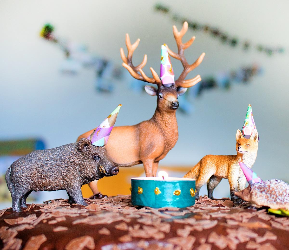 Geburtstagskuchen für Jungs mit Tieren