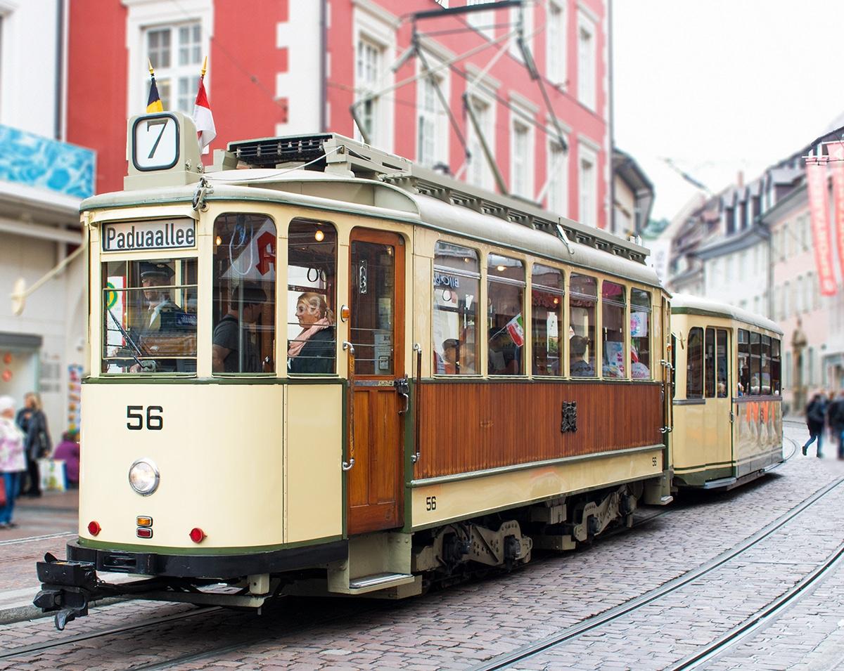 Mit der Straßenbahn durch Freiburg