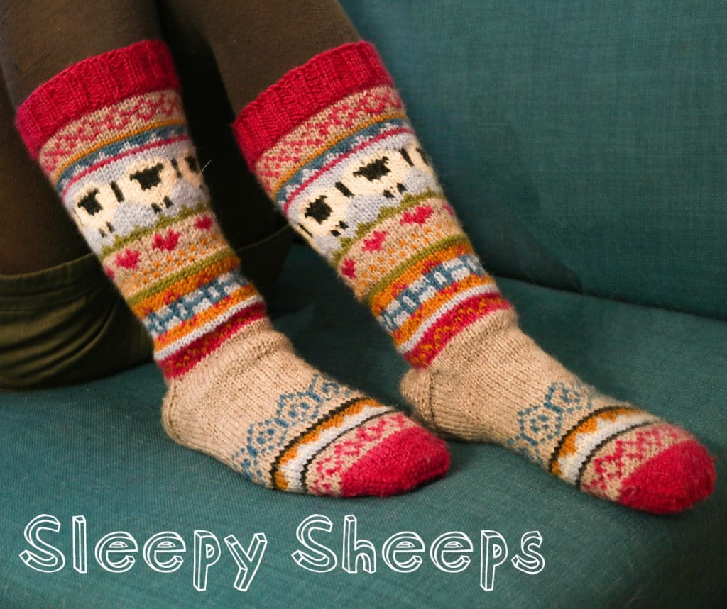 Sleepy sheeps socken stricken