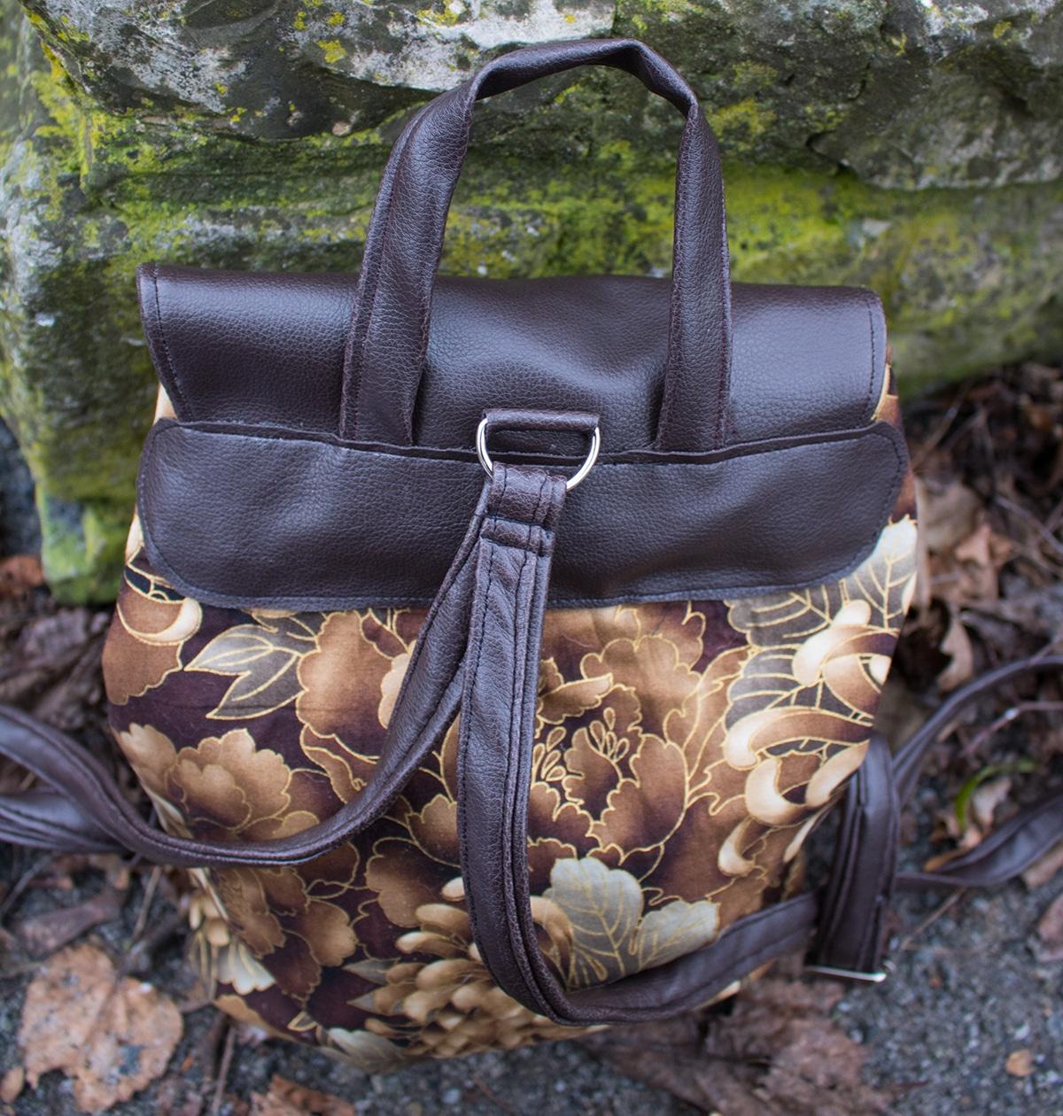Delari Bag 2 genähter Rucksack von hinten