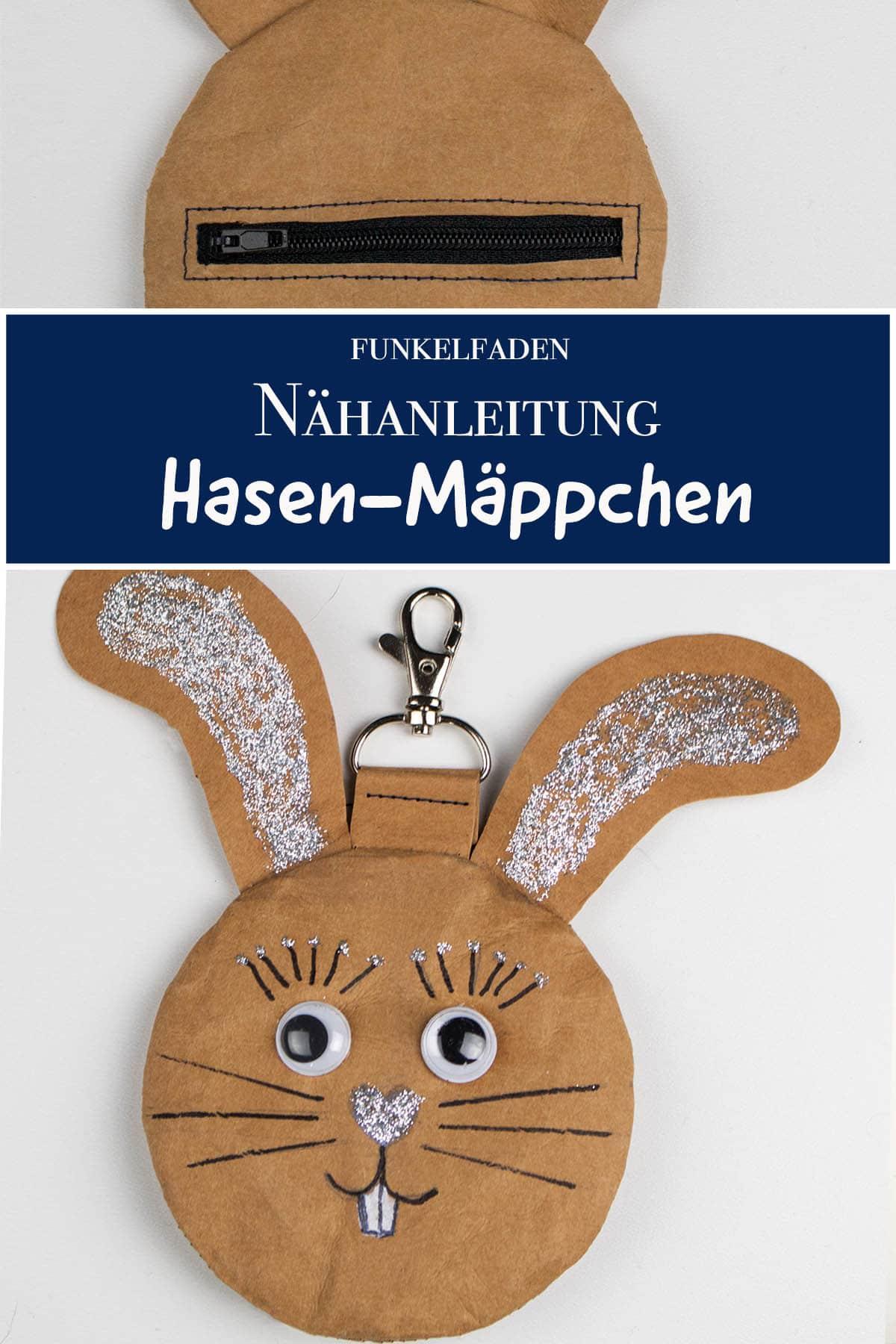 Gratis Schnittmuster Osterhasen Tasche nähen - Nähanleitung - Hasen-Mäppchen für Ostern nähen
