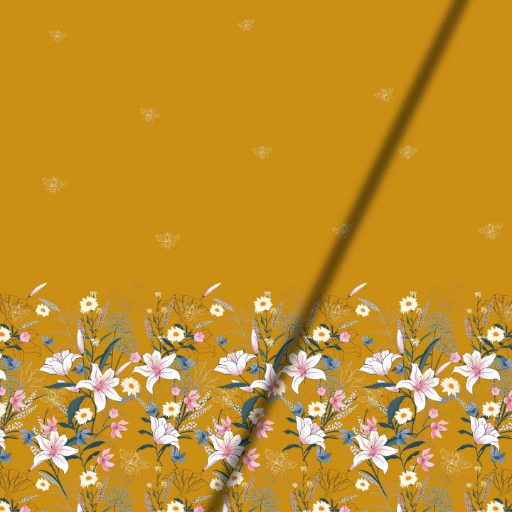 Panel Stoffe für Erwachsene kaufen Stoffe mit Bordüre mit Blumen