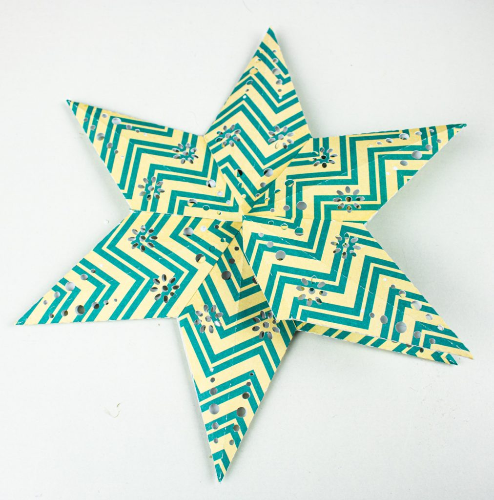 Sterne basteln gratis Plotterdatei - Bastelanleitung Sterne mit Licht basteln