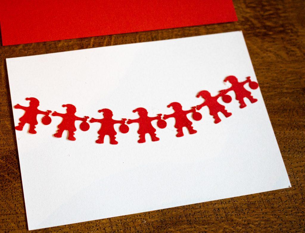 Weihnachtskarten und Anhänger mit dem Weihnachtsmann Motivlocher basteln